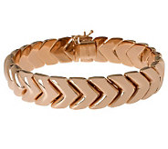 Bronzo Italia Polished 7-1/4 Arrow Design Bracelet - J313688