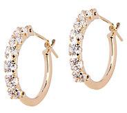 Diamonique Petite Polished Hoop Earrings, 14K Gold - J331488