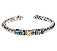 Barbara Bixby Sterling & 18K Pave Gemstone Cuff Bracelet - J334188
