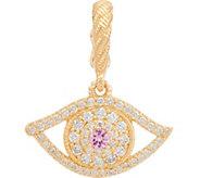 Judith Ripka 14K Gold Sapphire & Diamond Evil Eye Enhancer - J348088