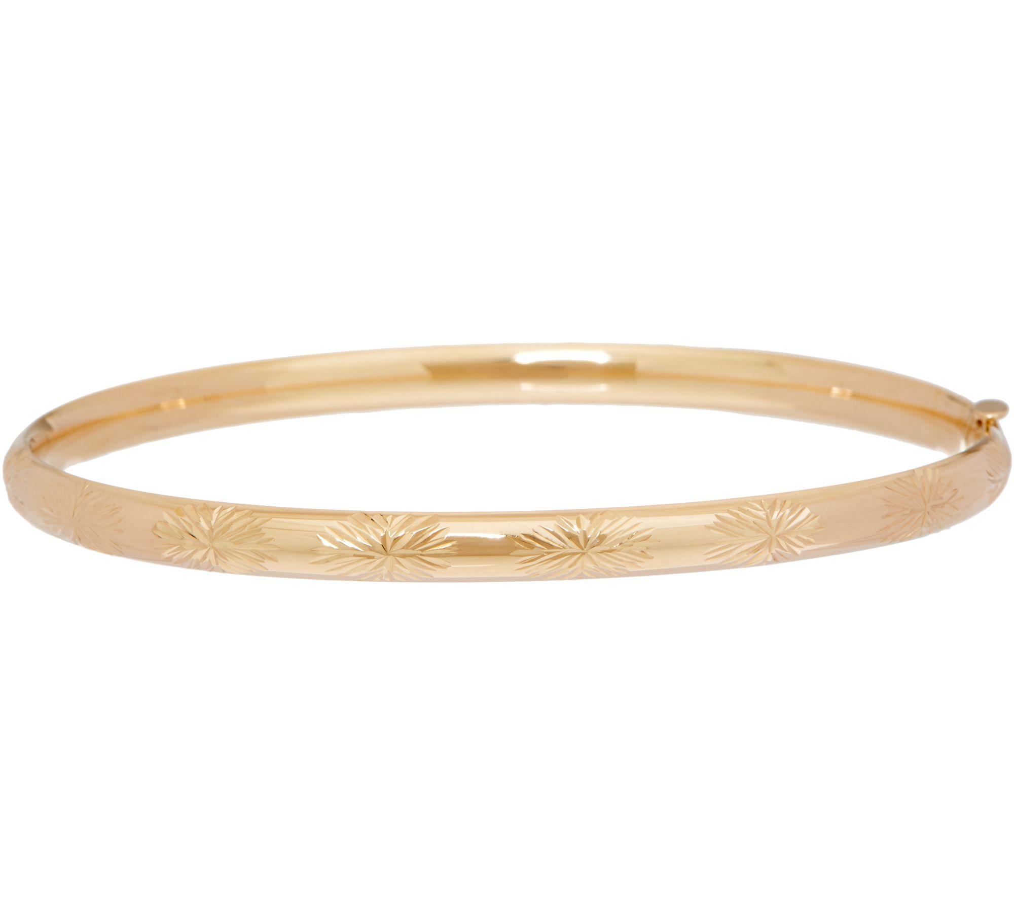 Eternagold 7 Bangle Bracelet 14k Gold 3 9g Qvc