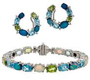 Judith Ripka Multi Gemstone Tennis Bracelet or Earrings - J351388