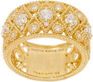Judith Ripka 14K Clad 1.35 cttw Diamonique Wide Band Ring - J352588
