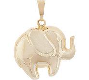 Italian Gold Elephant Pendant 14K Gold - J353488