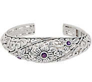 Or Paz Sterling Silver Gemstone Accent Filigree Cuff - J354988