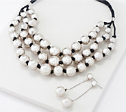 Linea by Louis DellOlio Nested Bead Necklace Set - J361088