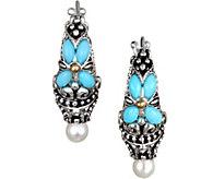 Barbara Bixby Sterling & 18K Turquoise Hoop Earrings - J376588