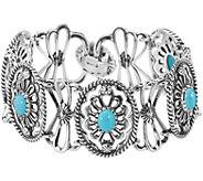 American West Gemstone Concha Link Bracelet - J377488
