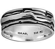 Or Paz Sterling Silver Polished Design Mens Ring - J377788