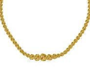 Italian Gold Rosette Link Graduated Necklace 14K, 11.1g - J378988