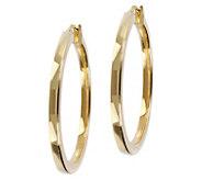 Veronese 18K Clad 1-1/2 Round Polished Hoop Earrings - J390888
