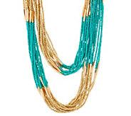Linea by Louis DellOlio Multi Strand Long Bead Necklace - J329589