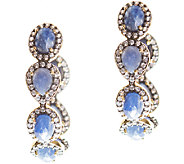 Graziela Gems Sapphire & Zircon Hoop Earrings,Sterling/18K - J337089