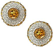 Judith Ripka Sterling Diamonique & Birthstone Earrings - J341589