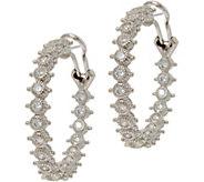 Judith Ripka Sterling Silver 1.55 cttw Diamonique Hoop Earrings - J347889