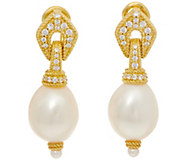 Judith Ripka Sterling & 14K Clad Cultured Pearl Drop Earrings - J352289