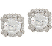 Judith Ripka Sterling 4.60 cttw Diamonique Stud Earrings - J352389