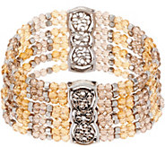 Susan Graver Antiqued Style Filigree Beaded Bracelet - J352989