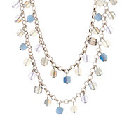 Joan Rivers Cube Bead 42 Necklace w/ 3L extender - J353589