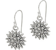 JAI Sterling Silver Croco Texture Sunburst Earrings - J354089
