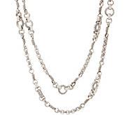 Stephen Dweck Sterling Silver Signature 36 Link Necklace 38.0g - J354889