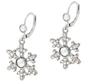 Kirks Folly Crystal Snow Queen Seaview Moon Earrings - J355989