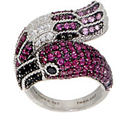 Judith Ripka Florence Flamingo Sterling Multi- Gemstone Ring - J356689