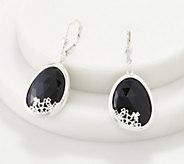 JMH Jewellery Sterling Silver and Onyx Earrings - J358789