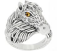 JAI Sterling Silver & Citrine Spirit Horse Ring - J359589