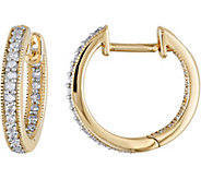 Diamond Hoop Earrings, 14K, 1/5 cttw, by Affinity - J376489