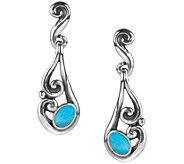 Carolyn Pollack Sterling Sleeping Beauty Turquoise Earrings - J383989