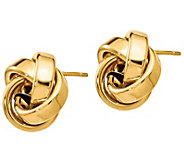 Italian Gold Ribbon Love Knot Earrings, 14K - J385589