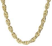 Judith Ripka Verona 20 Triple Link Sterling Silver Necklace - J388689