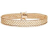 Imperial Gold 8 Wide Basket-Weave Bracelet 14K, 22.7g - J388989