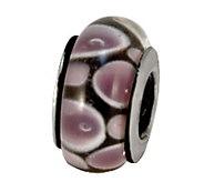 Prerogatives Sterling Purple/Black Glass Bead - J108890