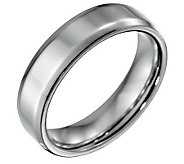 Forza Mens 6mm Steel w/ Beveled EdgePolished Ring - J109490