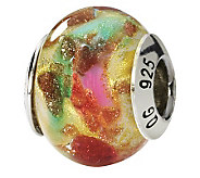 Prerogatives Sterling Multicolor Italian MuranoGlass Bead - J111590