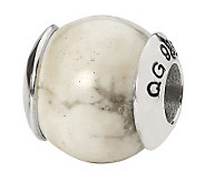 Prerogatives Sterling White Howlite Gemstone Bead - J298290