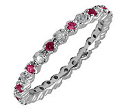 Simply Stacks Sterling Garnet & Diamond Stackable Ring - J298690