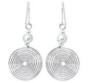 Novica Artisan Crafted Sterling Chic Spiral Dangle Earrings - J308190