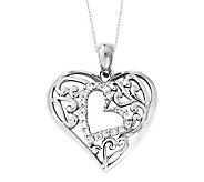 Sentimental Expressions Sterling 18 Forever Heart Necklace - J310590
