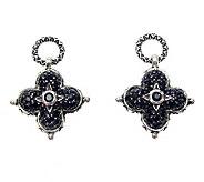 Barbara Bixby Sterling Black Sapphire Earring Drops - J311790