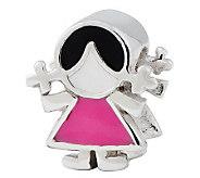 Prerogatives Sterling Pink Dress Girl Bead - J312790