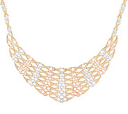 14K Gold Bib Style Necklace, 23.2g - J350890