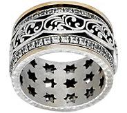 Or Paz Sterling / 14K Lace Design Spinner Ring - J351190