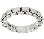 JAI Sterling Silver Box Chain Band Ring - J351690