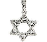 JAI Sterling Silver Carved Star of David Enhancer - J354090