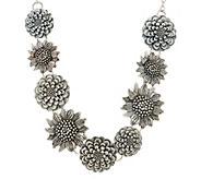 Or Paz Sterling Silver Multi-Flower Necklace 25.0g - J354990