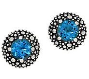Michael Dawkins Sterling Starry Night Gemstone Stud Earrings, 1.25 cttw - J359090