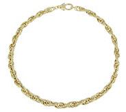 Judith Ripka Verona 14K Clad 18 Textured RopeNecklace, 25.1g - J381390